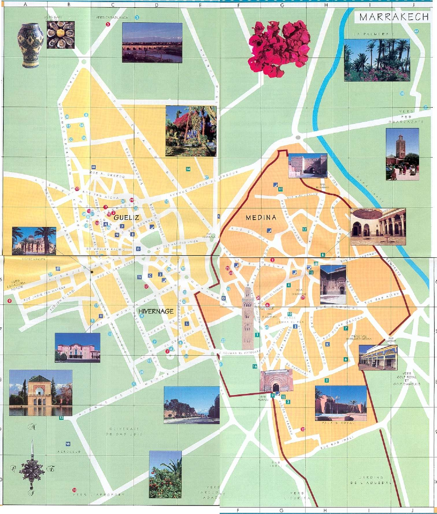 Morocco Map – Morocco Tourist Attractions Map