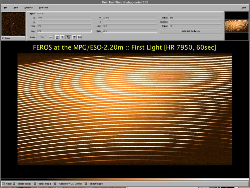 FirstLight at MPG/ESO-2.20m