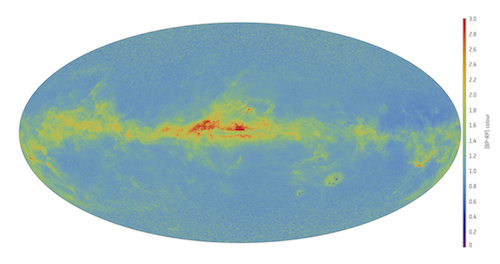 Preliminary colour map of the sky with Gaia