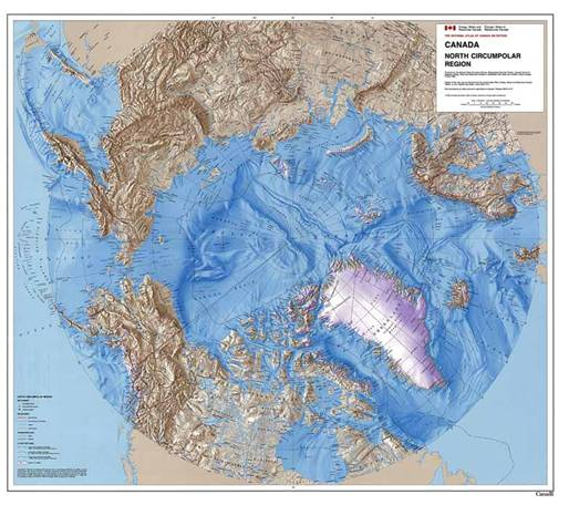 topographic map of the arctic Arctic Astronomy