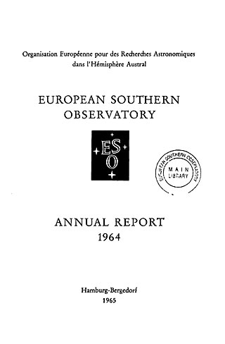 ESO Annual Report 1964