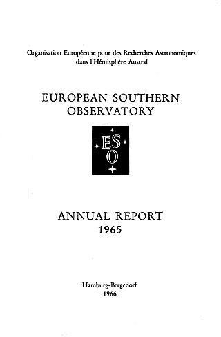 ESO Annual Report 1965