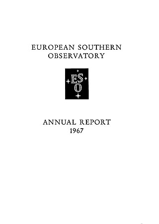 ESO Annual Report 1967