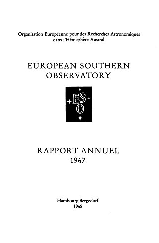 ESO Annual Report 1967 (French)