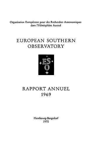 ESO Annual Report 1969 (French)