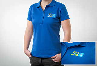 Polo Shirt Embroidered: Women Size L