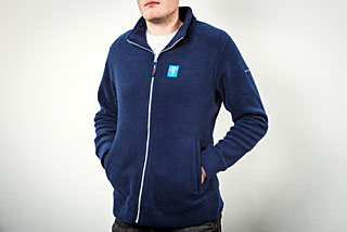 ESO Slim Fit Fleece Jacket: Men Size S