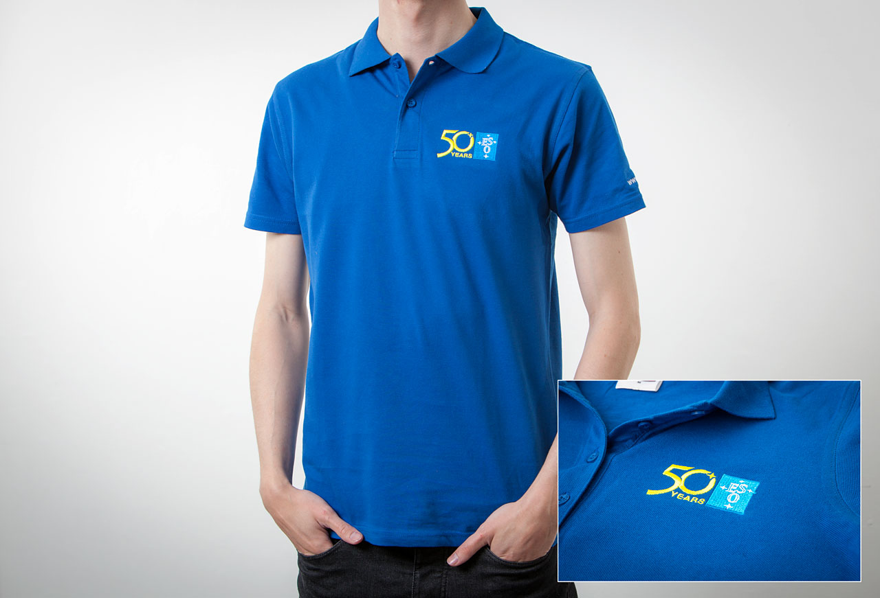 Polo Shirt Embroidered: Men Size L | ESO