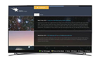Astroimages app for Samsung Smart TVs