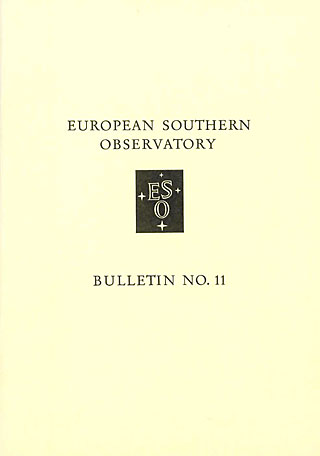 Bulletin 11 - European Southern Observatory