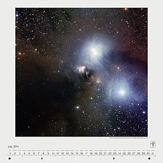 July 2011 — The R Coronae Australis region captured with the Wide Field Imager at La Silla