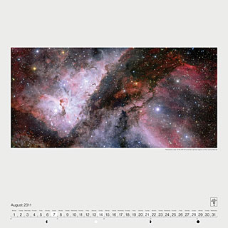 August 2011 — Panoramic view of the WR 22 and Eta Carinae regions of the Carina Nebula
