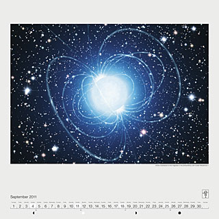 September 2011 — Artist's impression of the magnetar in the extraordinary star cluster Westerlund 1