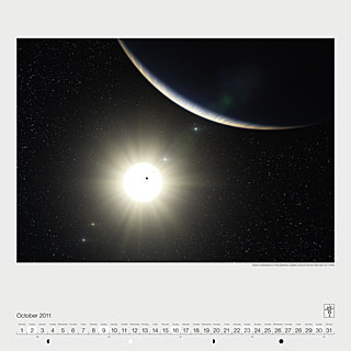 October 2011 — Artist's impression of the planetary system around the Sun-like star HD 10180