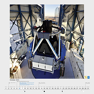 October 2012 — The VLT Survey Telescope: The largest telescope in the world designed for visible-light sky surveys