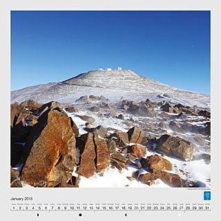 January - A dusting of snow in the Atacama Desert