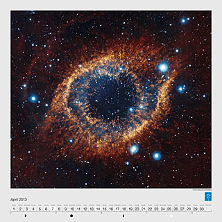 April - VISTA's look at the Helix Nebula
