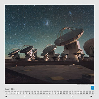 January - The Atacama Large Millimeter/ submillimeter Array (ALMA) by night