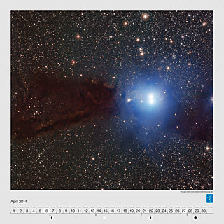 April - The Lupus 3 dark cloud and associated hot young stars