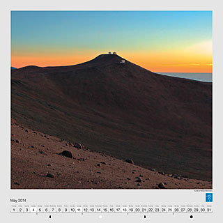 May - Sunset at Paranal Observatory