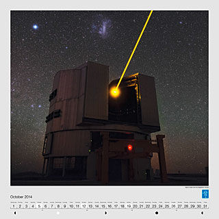 October - Yepun's laser and the Magellanic Clouds