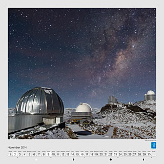 November - Night-time view of La Silla