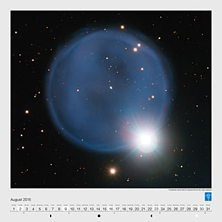 August – The planetary nebula Abell 33 captured with the Very Large Telescope