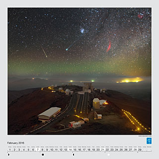 February - Comet Lovejoy above La Silla