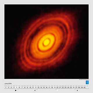June - ALMA image of disc around HL Tauri