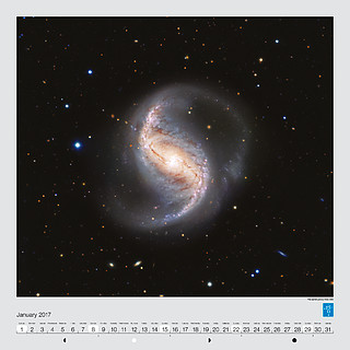 January – The spiral galaxy NGC 986