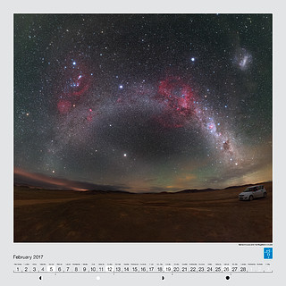 February – Barnard's Loop and the Magellanic Clouds
