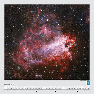 October – The star formation region Messier 17
