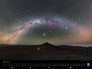 August – A kaleidoscope of colour above the VLT