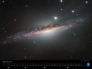 September – Edgewise perspective of NGC 1055