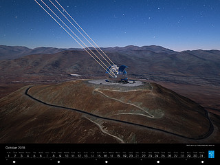 October – Artist's rendering of the Extremely Large Telescope
