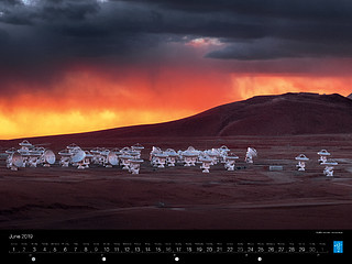 June - ALMA's dramatic surroundings