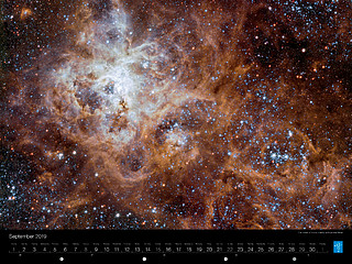 September - The Tarantula Nebula in the Large Magellanic Cloud