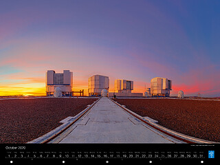 October - The Very Large Telescope platform at sunset