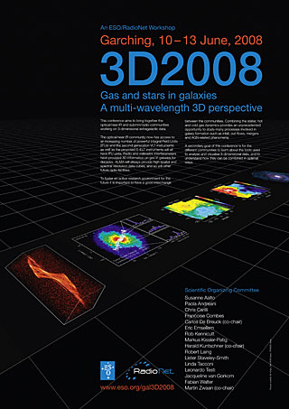 Poster: 3D2008 - Gas and Stars in Galaxies