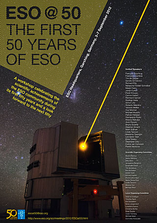 Poster: ESO@50 - the first 50 years of ESO