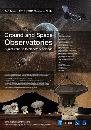 Poster: Ground and Space Observatories: A joint venture to planetary science
