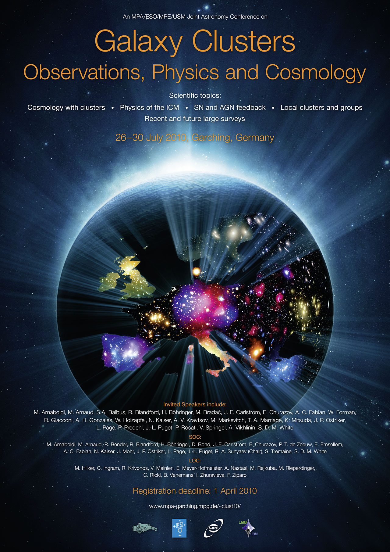 poster  galaxy clusters