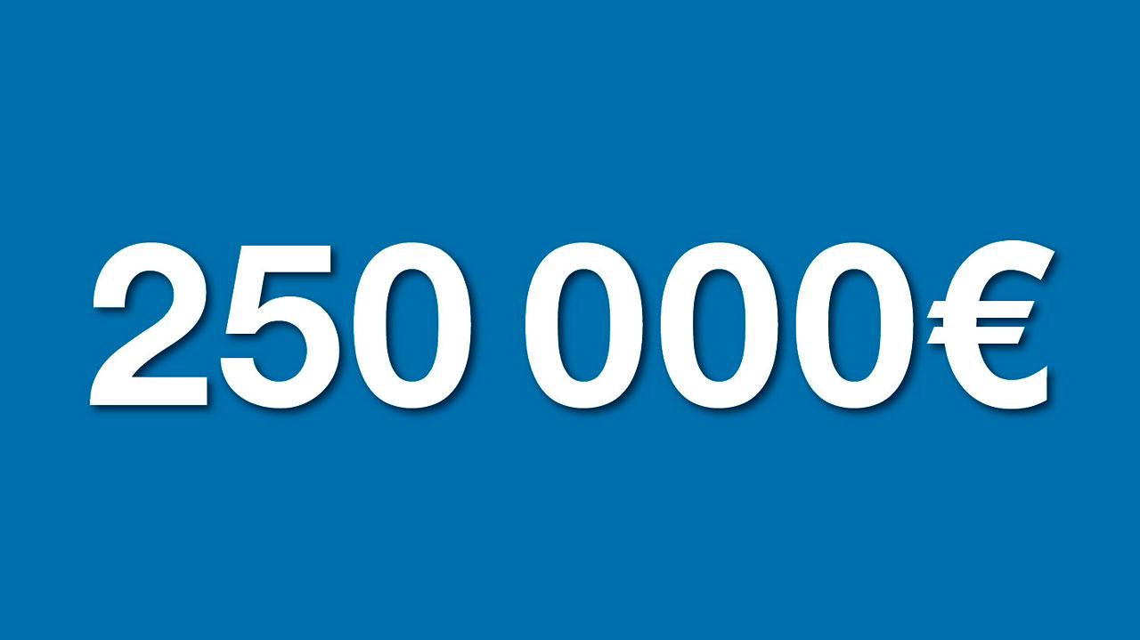 Donate 250 000 euros to the eso supernova esoshop for Maison moderne 250 000 euros