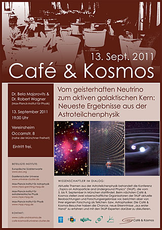 Poster: Café & Kosmos 13 September 2011