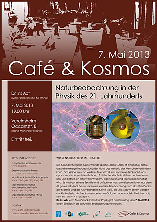 Poster of Café & Kosmos 7 May 2013