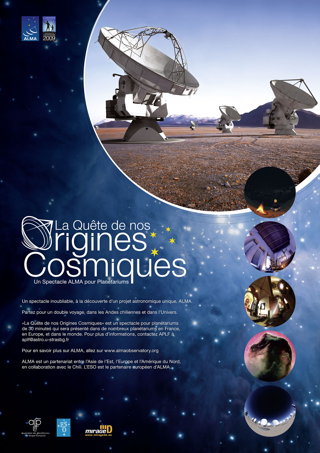 Poster: In Search of our Cosmic Origins - In French | ESO