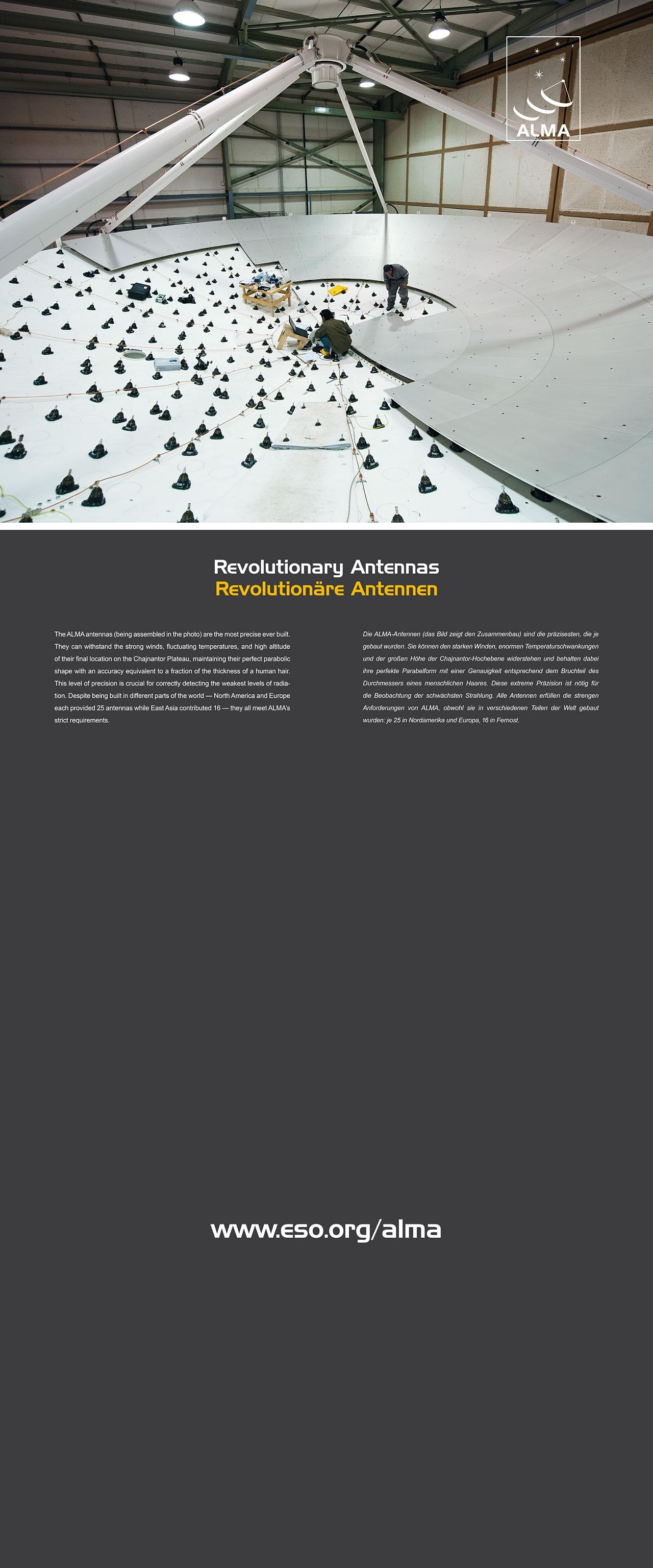 Alma Antennas Exhibition Panel 90 X 216 Cm English And German