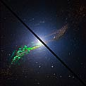 The radio galaxy Centaurus A, as seen by ALMA (mouseover comparison)