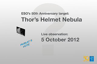 Winner of the ESO anniversary competition — the Thor's Helmet Nebula