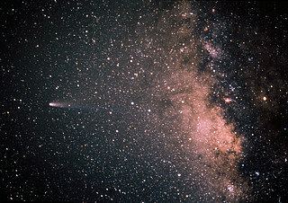 Comet Halley and the Milky Way
